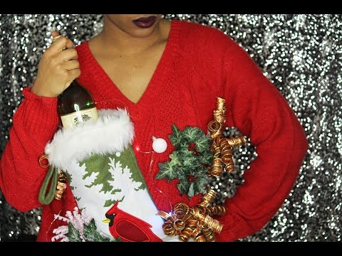 Simply DIY | DIY Ugly Christmas Sweater and Wine Holder
