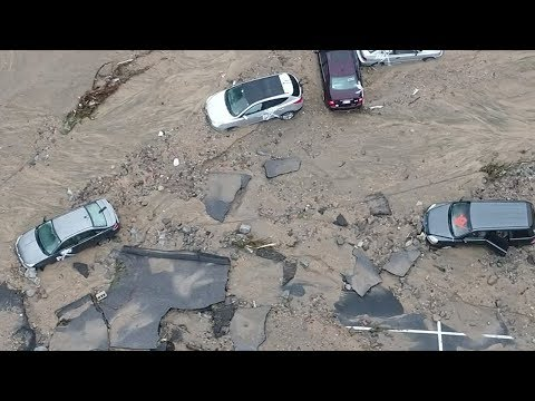 Maryland flooding: Drone footage shows extent of damage in Ellicott City