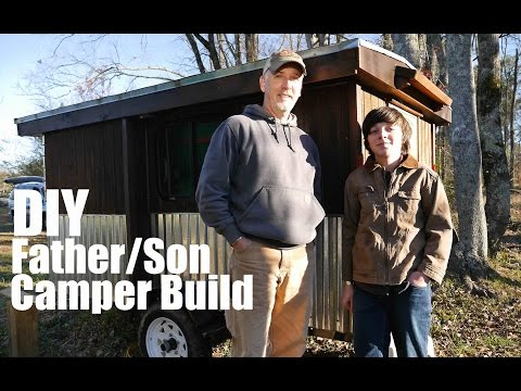 Father and Son Project- Low-Cost DIY Camper (at Tiny House Festival)