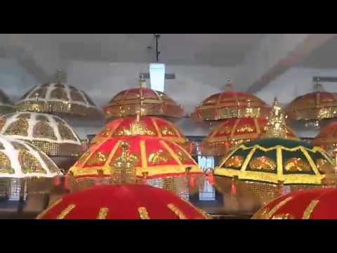 wonderful umbrellas making for a festival