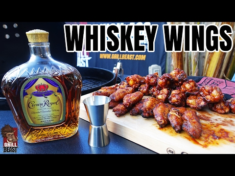 Grilled Whiskey Hot Wings - Grill Beast