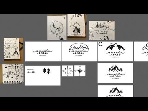 Logo Design Process — Sketch to Vector to Hand drawn