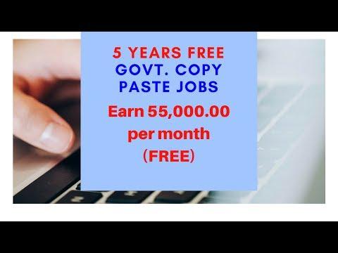 Govt. Copy Paste Jobs Earn 45,000.00 Per month Register today and Get 250 Paytm Sign Up Bonus.