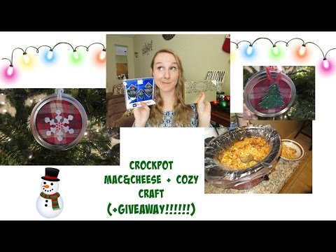 Crockpot Mac&Cheese + Cozy Craft (+Giveaway!!!! CLOSED)