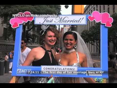 7.24.11 - Pictures of couples from the first day of fair marriage laws in New York