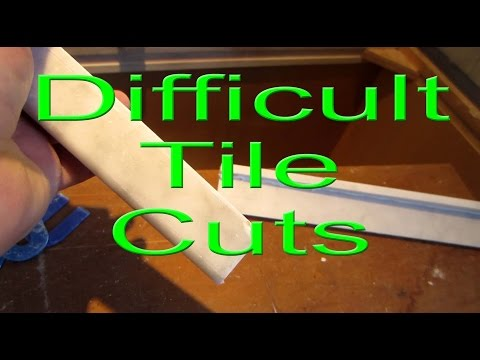 Making a Difficult Tile Cut, Marble tile Sliver or very narrow slice.