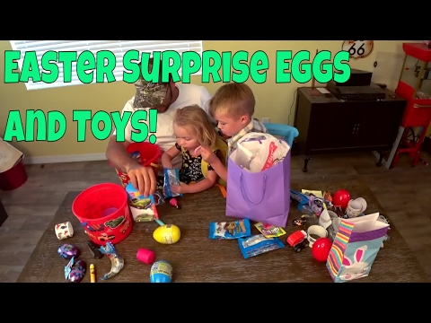 Jack's Easter Surprise Eggs and Toys!!!