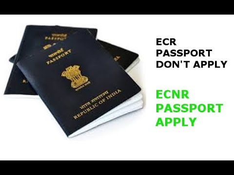 Don't Apply ECR Passport Differences Between ECR And ECNR Passport and ecr to ecnr Hindi 2017/2018