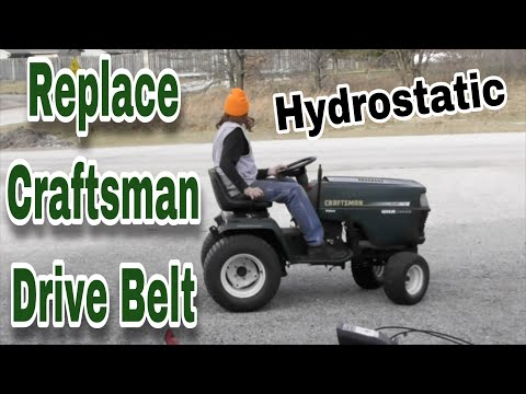 How To Replace The Drive Belt On A Craftsman Garden Tractor (Hydro Drive) - Fix and Dash