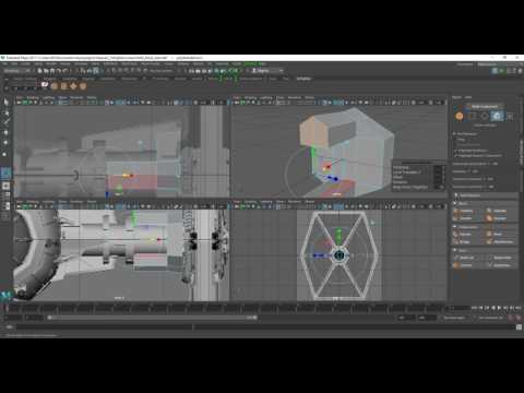 Tie Fighter Modelling in Maya Part 4