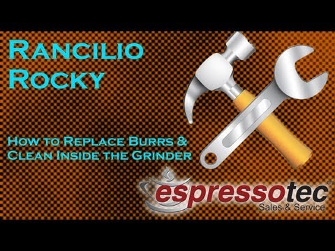 Rancilio Rocky - How to Replace Burrs & Clean Inside the Grinder