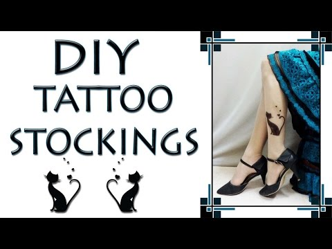 DIY Tattoo Stockings - How to make Tattoo on Tights (Hindi)