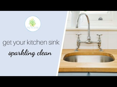 How to get your kitchen sink sparkling clean using an all natural cleaning paste.