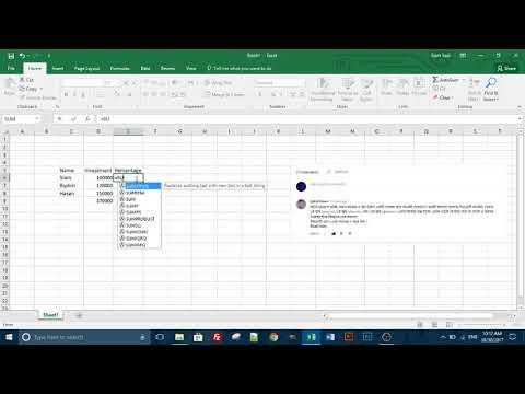 Microsoft Excel Tutorial Bangla 9 - using percentage in worksheet