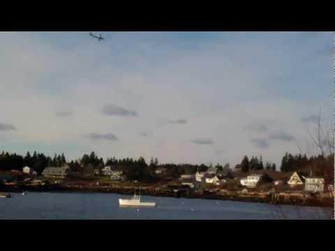 Hobbyzone Super Cub DSM LP Flight Over Ocean!  Great Landing!!!!!! XD