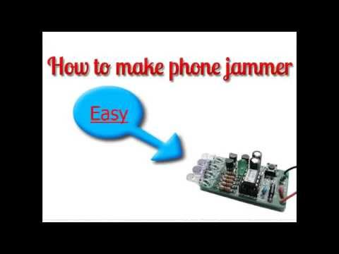 How to make cell phone jammer by yourself.