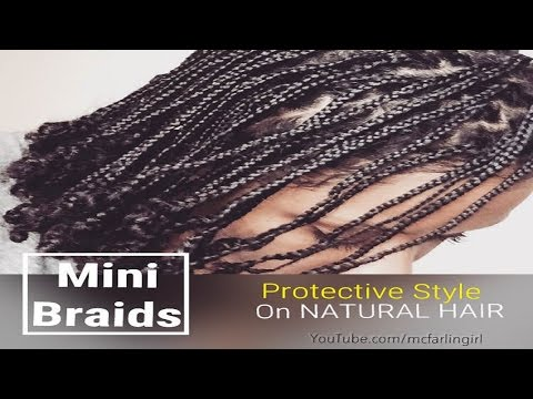 Mini Braids Protective Style Tutorial on Natural Hair (No Extensions)   Natively Natural