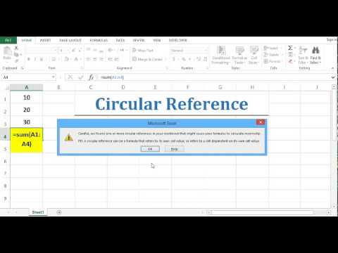 Circular Reference - Fixing Circular Reference in Excel 2013