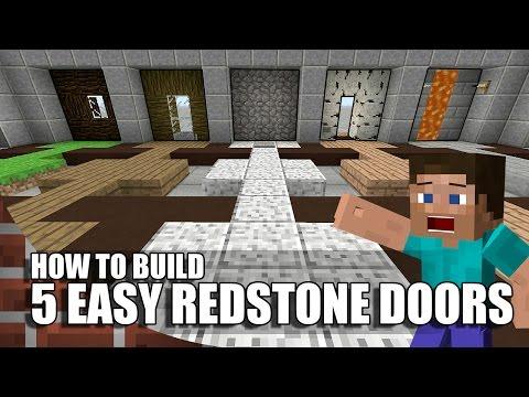 5 Easy Ways To Build Redstone Doors In Minecraft