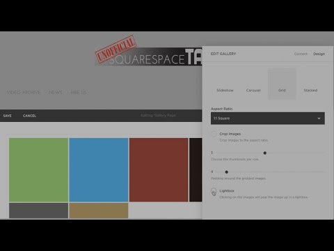 Gallery Options in Squarespace | Changing Gallery Styles in Squarespace 7