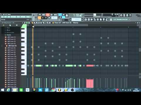 How to make a dancehall / reggae riddim in fl studio (tutorial PT1) 2016 MARCH