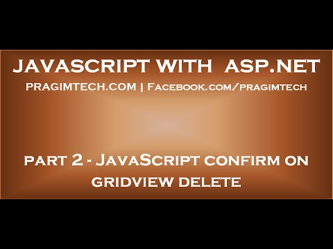 JavaScript confirm on gridview delete