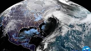 Sunrise over Bomb Cyclone - Captured by NOAA GOES East 1/4/2017