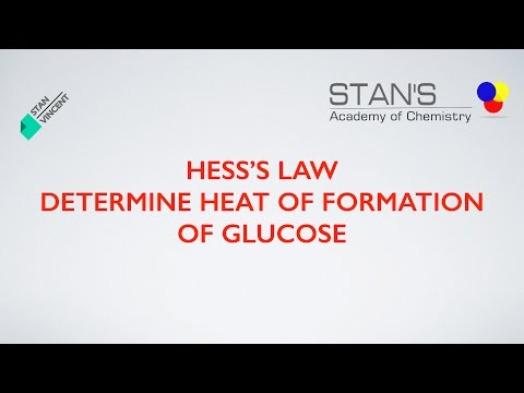 Hess's Law | Heat of Formation of Glucose | Equation Method | Education | Chemistry |