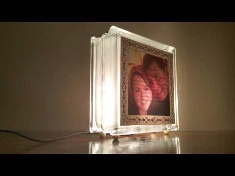 Appearing Image 1 Corinthians Glass Block Light
