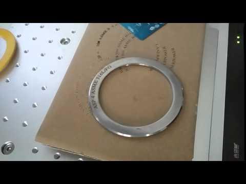 20w fiber laser marking machine on metal gaskets for ASP
