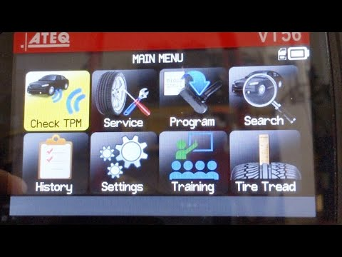 Checking Low Tire Pressure Light With The ATEQ VT56