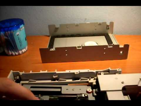 How to clean laser on DVD writer
