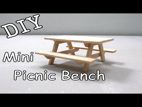 DIY Mini Picnic Bench #20 (Popsicle Sticks)