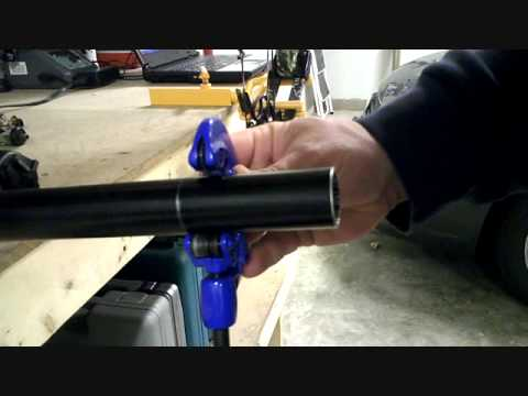 How to cut down steer tube on a mountain bike fork.