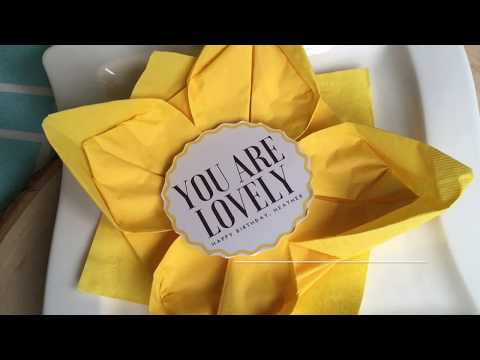 How to Make Folded Paper Napkin Flowers