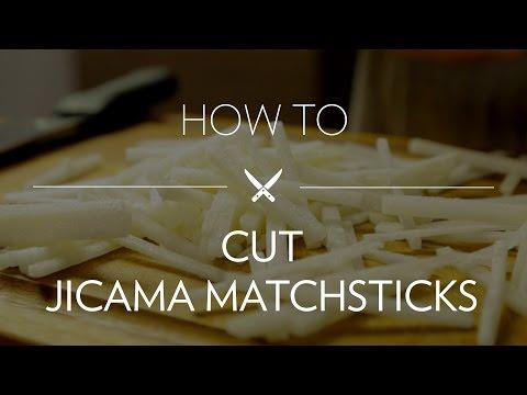 Cutting Jicama Matchsticks
