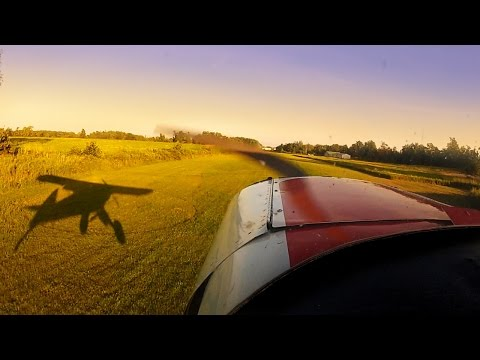 Super Cub - Finding Zen - Grass Strip - Tail Wheel Flying - Short Field Landing practice