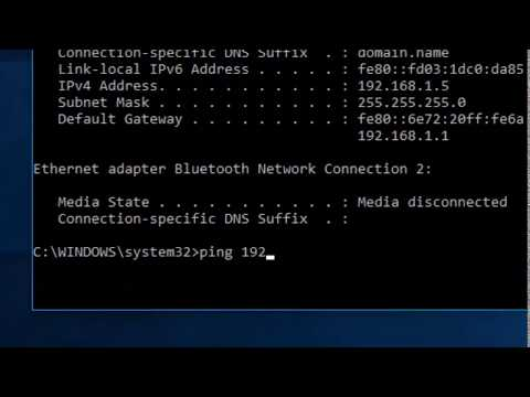 How to Ping your Privet and Public IP address Windows 10