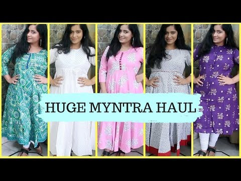 Myntra Kurti Haul 2018 ( All under Rs. 1000/- ) | Online Shopping