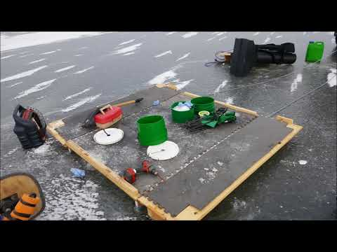 Hard floor for Ice fishing tent