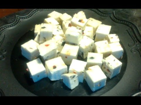 Homemade Paneer with Herbs and Spices-Indian Cottage Cheese-Chenna