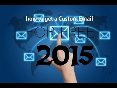 How to get a Custom email for free 2015