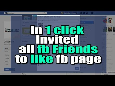 Send Invitation to all Facebook Friends to like your Fb page in just one click [in Hindi]