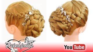 peinados faciles y rapidos para novias graduacion con trenzas elegantes