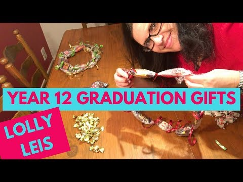 Year 12  Graduation Gifts 🍭Lolly Leis 🍬Candy Lei Tutorial