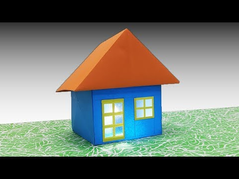 How to make a Paper House (Very easy) - DIY 3D Origami House