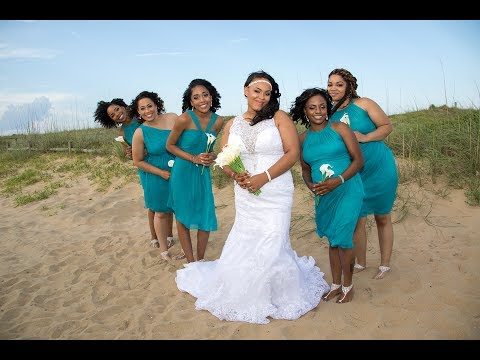 Angela & JR's Little Island Park Beach Wedding by the Virginia Beach Wedding Chapel