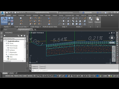 Calculating Corridor Structural Volumes using Civil 3D