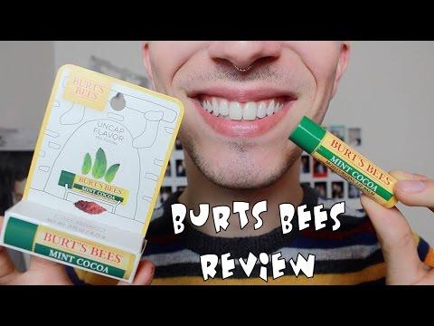 BURT'S BEES MINT COCOA LIP BALM REVIEW | TYE BALLEW