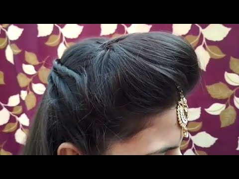 Front Puff With Fix Tikka Hairstyle || Occasion Hairstyle